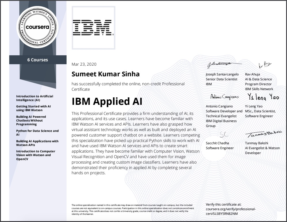 IBM-Applied-AI-Professional-Certificate